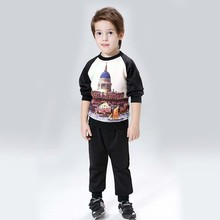 Baby Boy Clothes Child Costume Sports suit 2 pieces set Tracksuits boys Clothing sets Coat+Pant Outfit for 3-8Y Q92
