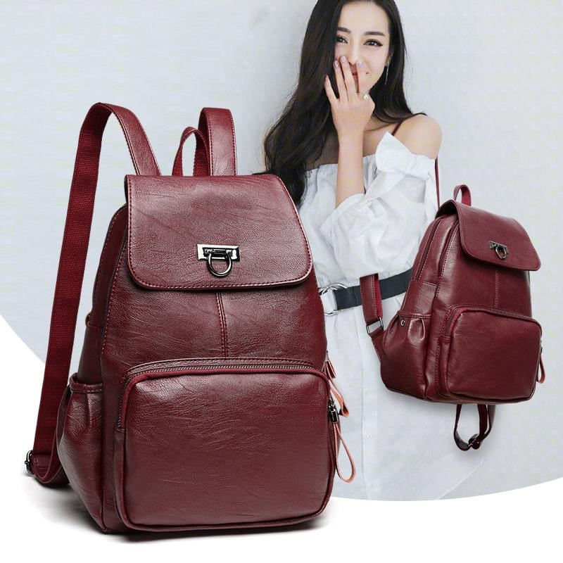 Genuine Leather Backpack Bags For Women 2019 Large Capacity Women Backpack Waterproof  Youth School Bags