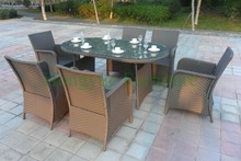 Patio outdoor garden dining table set furniture supplier dining furniture set