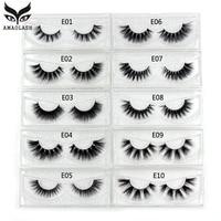 c380eaed1fe AMAOLASH Mink Lashes 3D Mink Eyelashes 100% Cruelty free Lashes Handmade  Reusable Natural Eyelashes wispy