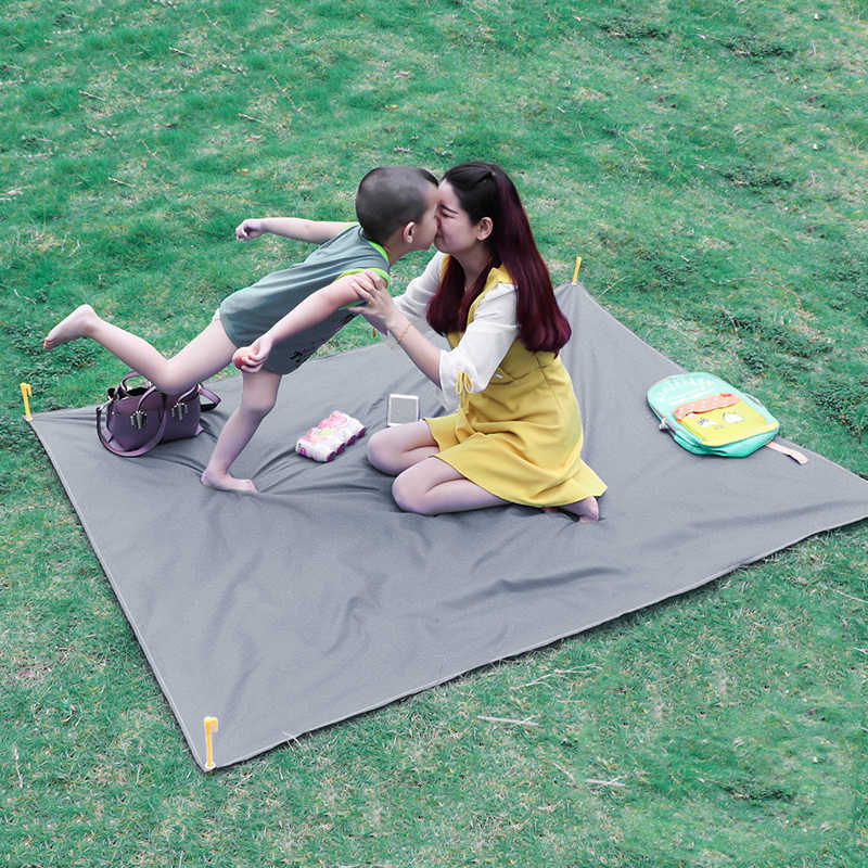 Tapis de plage en plein air pique-nique couverture tapis matelas Pad Camping tente fixe chevilles clous piquets broches mousqueton Clip crochets pour choisir