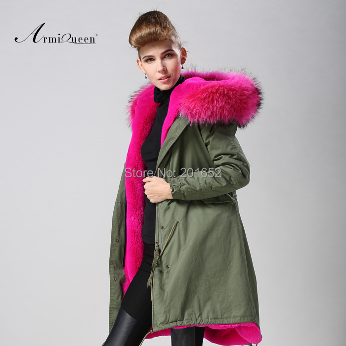 New Fashion Women Winter Super Long Coat fur collar Hooded Parka Jacket faux fur lined coat mr