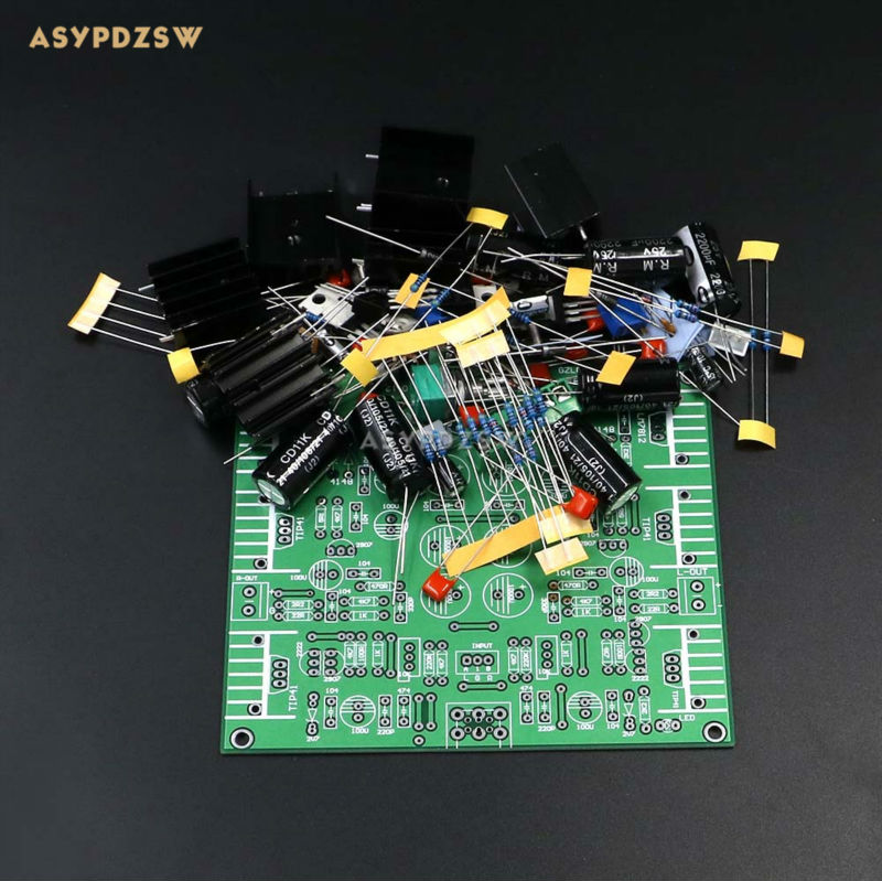 цена на NEW JLH HOOD1969 Class A Headphone power amplifier DIY Kit Preamplifier kit