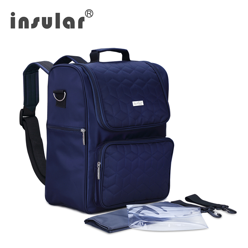INSULAR Nappy Diaper Bag Multifunction Large Capacity Mummy Bag With Computer Sack Cosmetic baby Nappy Bags Diaper Bag Fashion 2016 hot sale real baby nappy bags multifunction large capacity cheap mummy bag fashion shoulder baby diaper bags 1pcs 3 colors