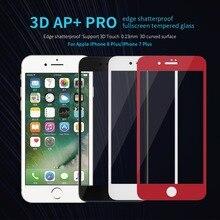 Полное покрытие закаленное Стекло для Apple iPhone7 плюс Экран Protector NILLKIN 3D AP + Pro полный экран из закаленного Стекло для iphone 8 Plus