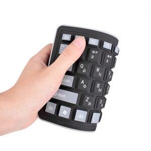 Image 3 - 103keys Russian Keyboard Letters Silicon Teclado Layout USB Interface Russian Keyboard Flexible Teclado PC Desktop Laptop Wired