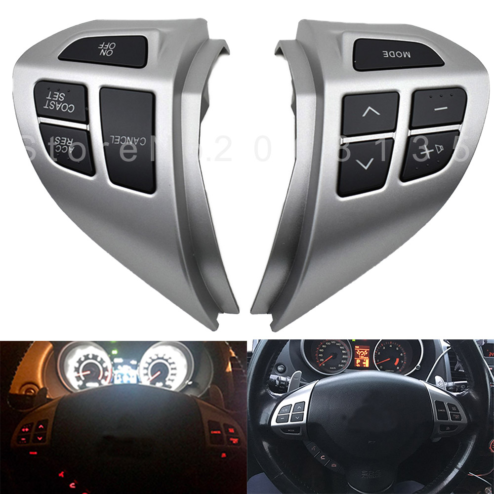 High quality New Steering Wheel Volume Sound Button Left & Right for M-ITSUBISHI LANCER <font><b>OUTLANDER</b></font> ASX <font><b>2007</b></font> <font><b>2008</b></font> 2009 2010 2011 image