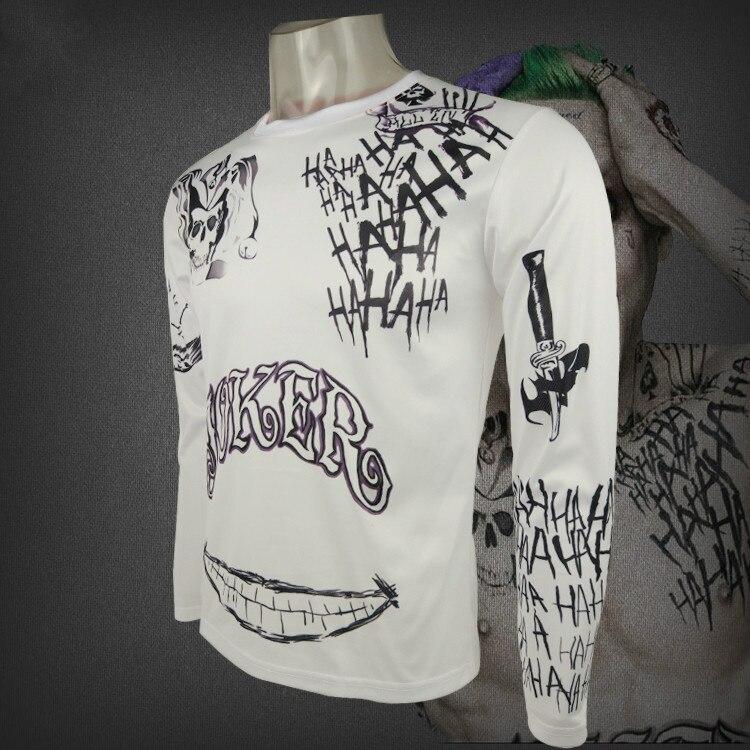 halloween tshirt suicide squad joker tattoo cosplay