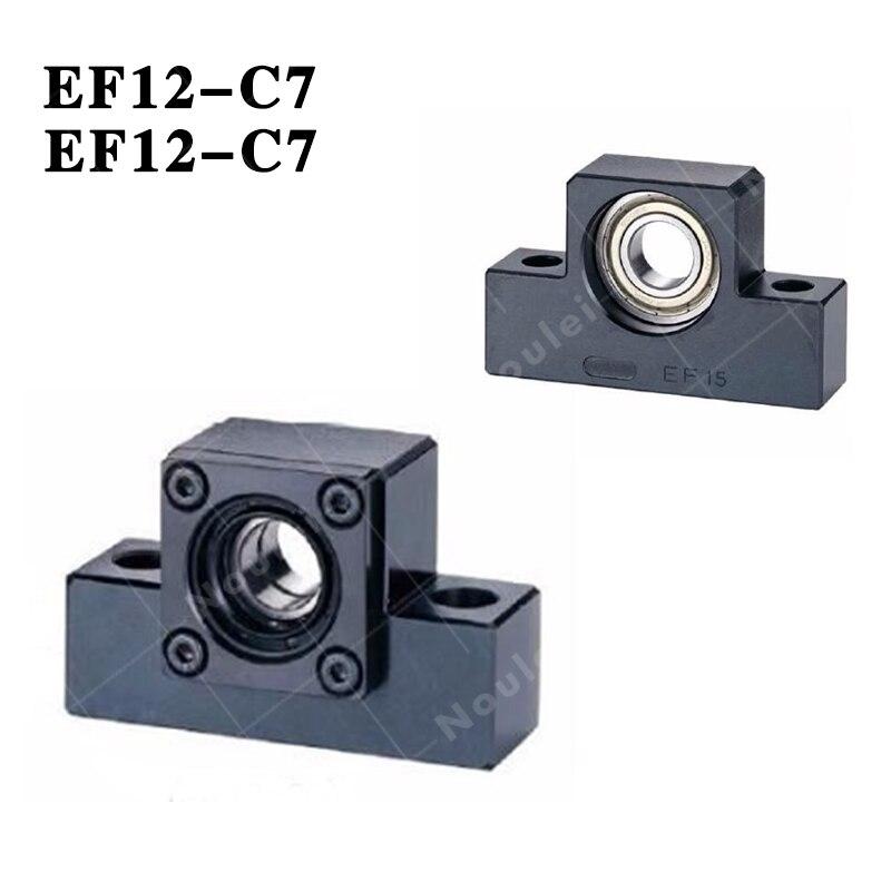 ( TMT ) CNC EK12 EF12 ball screw end support Fixed-side + supported-side EK12-C7 / EF12 Black 3pairs lot fk25 ff25 ball screw end supports fixed side fk25 and floated side ff25 for screw shaft