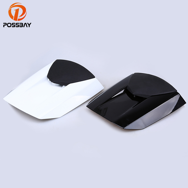 POSSBAY Motorcycle Black White Rear Tail Seat Cowl Fairing Cover Fit for Honda CBR600RR F5 2013 Motorbike Rear Passenger Cushion