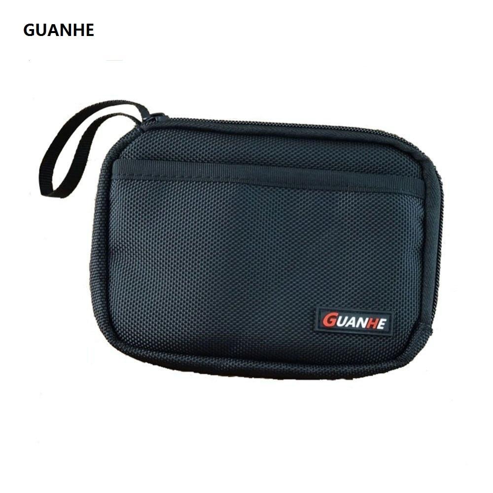 GUANHE Τσάντα σκληρού δίσκου διπλής κασέτας Layer Cable Organizer τσάντα μεταφοράς υπόθεση HDD USB Flash Drive τσάντα σκληρού δίσκου