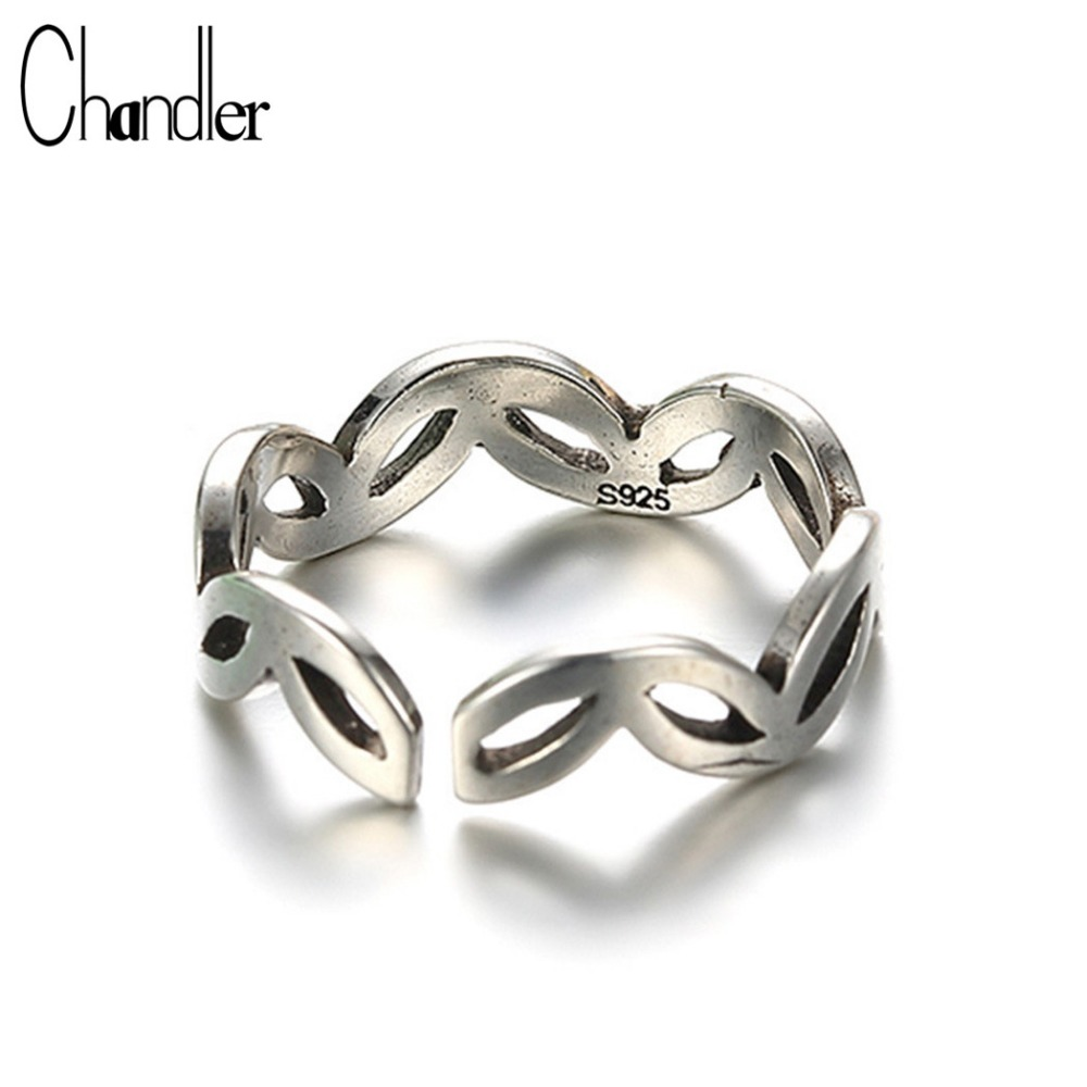 Chandler 925 Sterling Silver Antique Classical Greek Totem Ring For Women Men Religious Midi Knuckle Toe Trendy Accessaries Gift