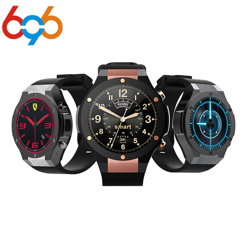 696 Smart Watch H2 MTK6580 Life Waterproof Quad Core GPS Wifi 3G Heart Rate 500W 1G RAM 16G ROM Bluetooth For iphone X Android I