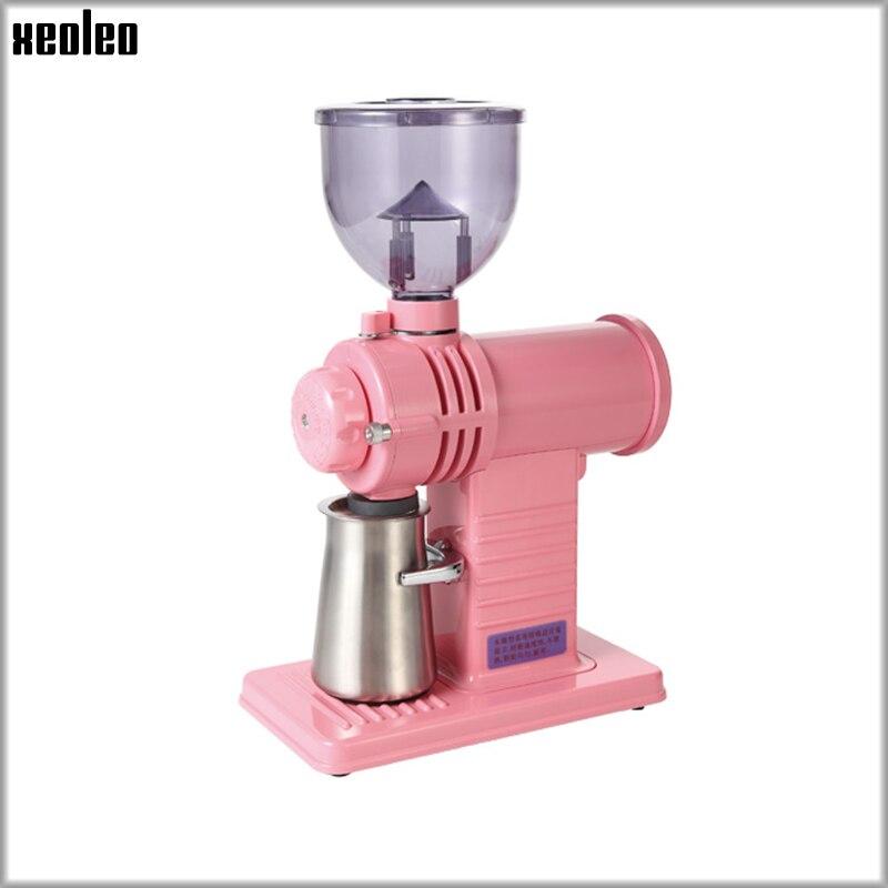 Xeoleo Electric Coffee grinder Flat Wheel Burr grinder Coffee miller Superhard ghost tooth cutter Coffee milling machine 10 step