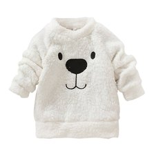 Winter Kids Baby Long Sleeve Sweater Tops Crew Neck Casual Warm Pullover Blouse SL01