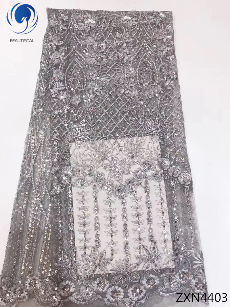 BEAUTIFICAL sequins tulle lace fabric high quality african laces with sequins net lace fabric for wedding 5yards/lot ZXN44BEAUTIFICAL sequins tulle lace fabric high quality african laces with sequins net lace fabric for wedding 5yards/lot ZXN44