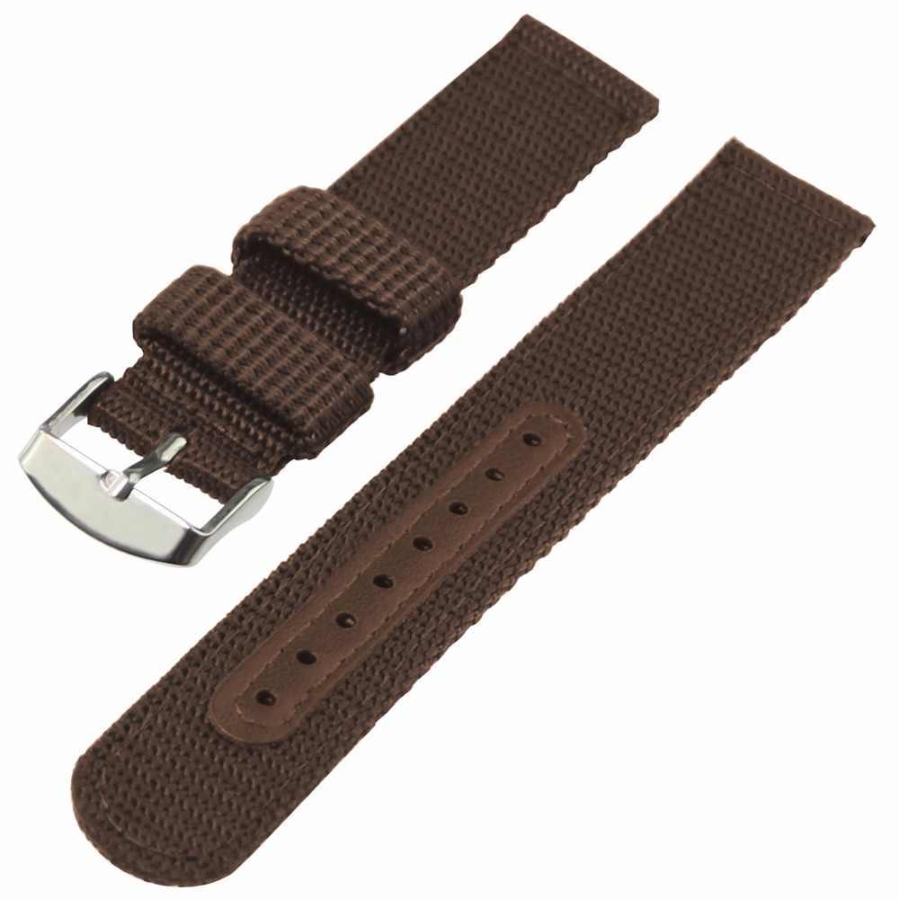 ZLIMSN Uhr Band Strap Nylon Mesh Uhrenarmbänder Frauen Männer Sport Uhren Gürtel Zubehör Uhren Hombre 2018 20mm 22mm 24mm Weichen
