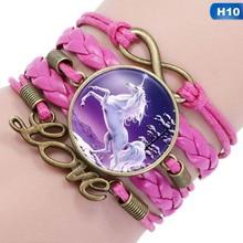 Unicorn Multilayer Leather Braided Bracelet