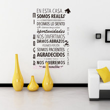 be5b22d8ac Spanish Quote House rules Vinyl Wall Sticker Removable Wall Decal Mural Decor  Living Room Wall art Home Decor Poster 44cm x 69cm