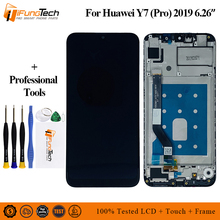 Original For Huawei Y7 Pro 2019 DUB-LX2 DUB-L22 LCD Display Screen Frame+Touch Panel Digitizer Prime