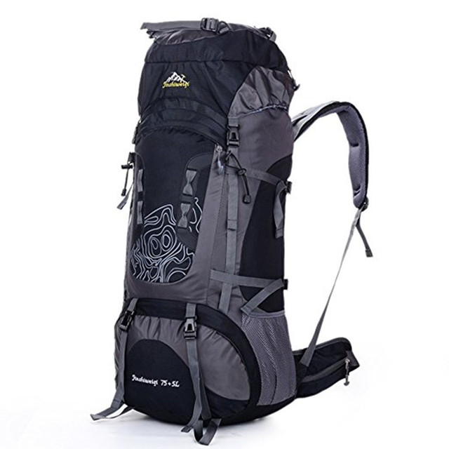 476c7e53c5f6 75+5L Men Women Outdoor Backpack Climbing Backpacks Hiking Rucksacks Unisex  Travel Large Capacity Camping Climbing Sports Bag