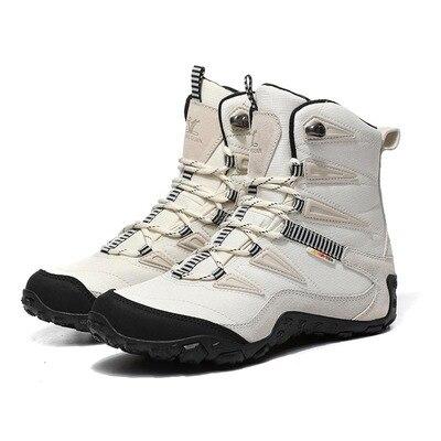Nouveau unisexe hiver randonnée bottes hommes peau de vache Oxford imperméable antidérapant neige bottes dames marche trekking bottes for-40C