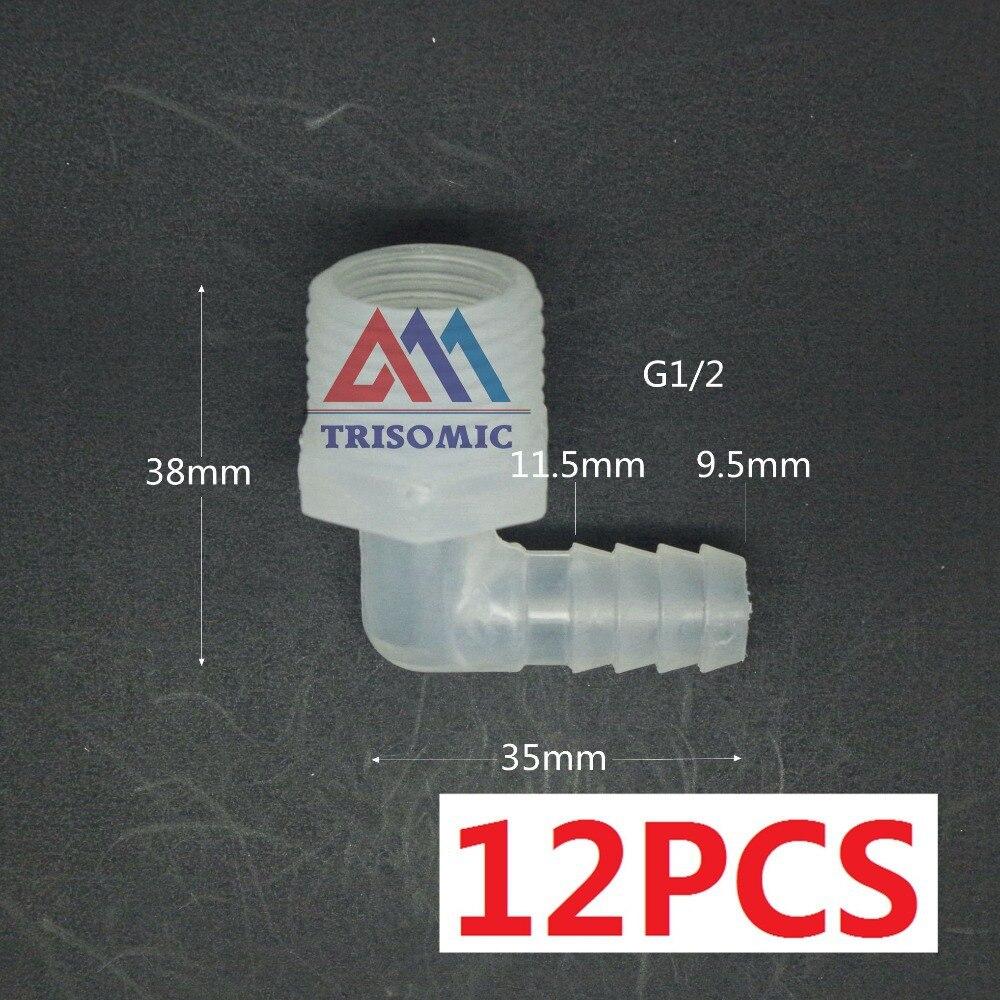 G1/2 Ellenbogen Gewinde Verbindungsrohr Joiner Pp Kunststoff-fittings Tank Airline Säure Und Laugenbeständig 12 Stücke 9,5mm Rohre & Armaturen Sanitär