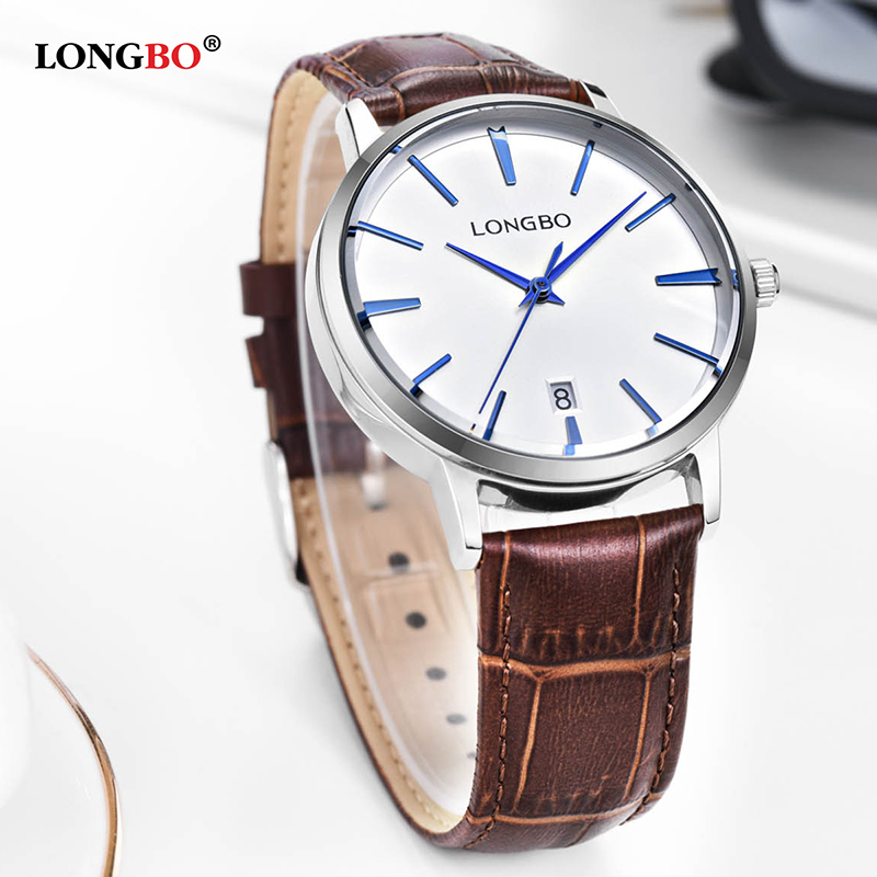 Hot Items Leather Bracelet Couple Watch For Men Women Stylish Fashon longbo Brand Wristwatch Japan Movt Analog Quartz Watch 5036 2016 new hot sale brand magic star black white analog quartz bracelet watch wristwatches for women girls men lovers op001