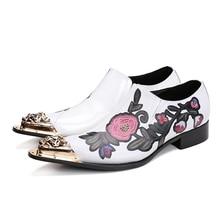 Новый Бренд Обувь Из Натуральной Кожи Цветы Мужчины Свадьба Туфли Выпускного Вечера Итальянские Мужчины Оксфорды Бизнес Формальные Обувь Больших Размеров