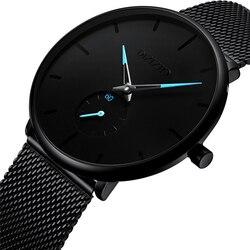 Fashion Watch Men Waterproof Slim Mesh Strap Minimalist Wrist Watches For Men Quartz Sports Watch Clock Relogio Masculino