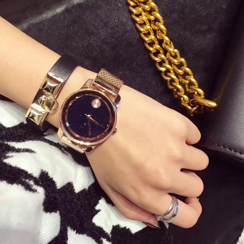 AAA Luxury Elegant Women Watch Rose Gold Feminino Relogio Japan Movement Crystal Lady Mesh Steel Bracelet Quartz Watches