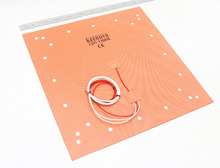 "KEENOVO Silicone Heater Pad 508x508mm(20"" x 20"") for Creality CR 10 S5 3D Printer Bed w/Screw Holes, Adhesive Backing & Sensor"