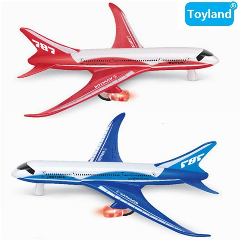 18cm Alloy Metal Emirates Airlines for Boeing 787 Airplane Model Flashing & Musical & Pull Back Plane Model Aircarft Toy Gift ...