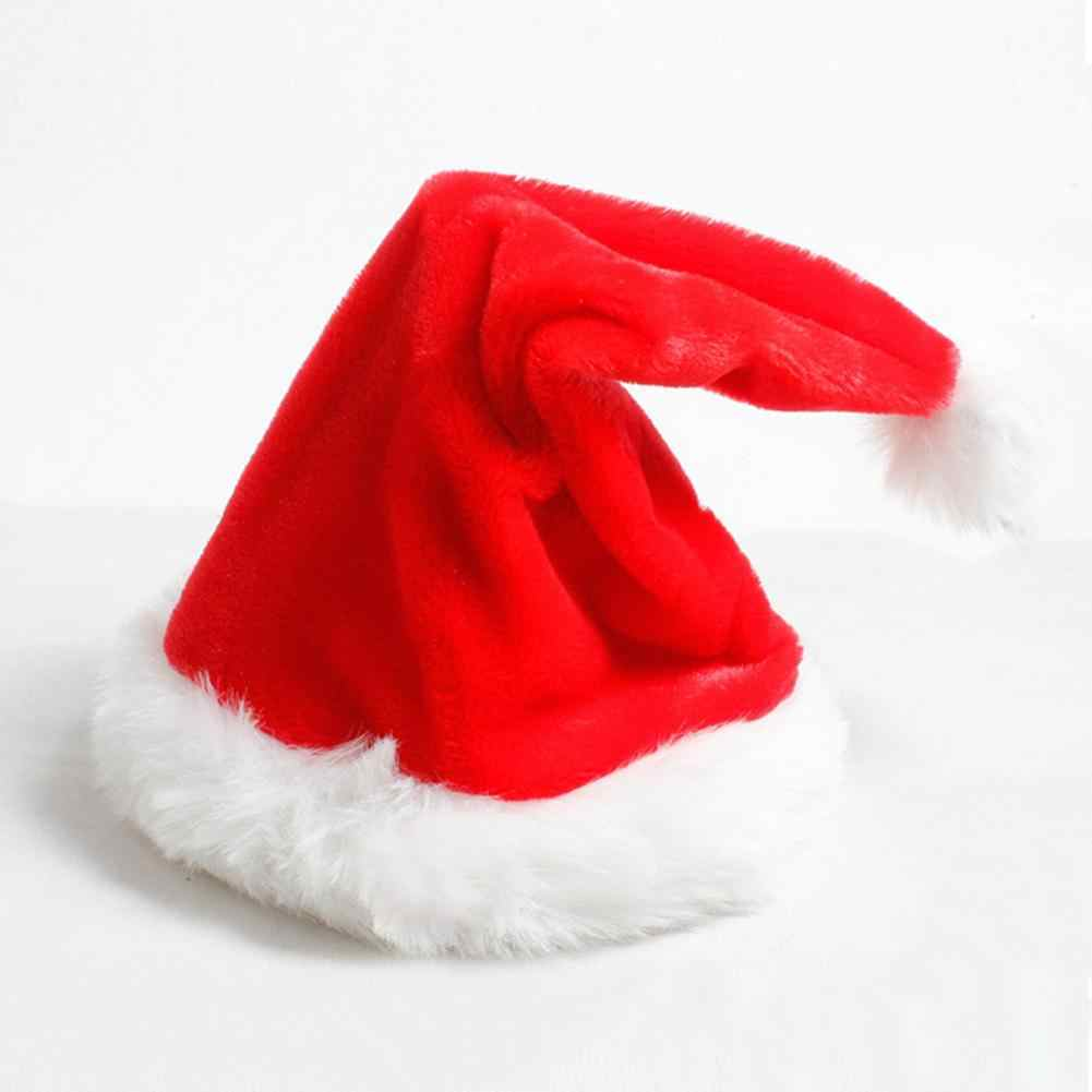 8d651e6566768 Creative Red Velvet Christmas Music Swing Hat Electric Warmth Santa Claus  Cap Innovative Christmas Ornament Decoration