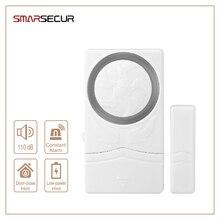 Security Magnetic Door Alarm Sensors Window Sensor Alarm Home Security Protection 110dB Sound Entry Defense Alarma