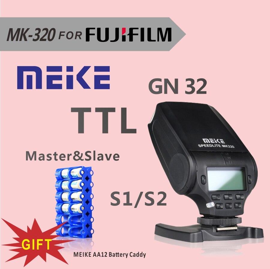 MEKE Meike TTL mini flash speedlite MK320 MK320-F for fuji film hot shoe camera X-T1 X-M1 X100s X-a1 X-e2 X100t as EF-20+GIFT