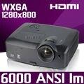 300 inch 6000 ANSI рекламировать Презентация 2 К Задняя Летнее Видео USB HDMI 1280x800 1080 P full HD DLP Проектор Proyector бимер