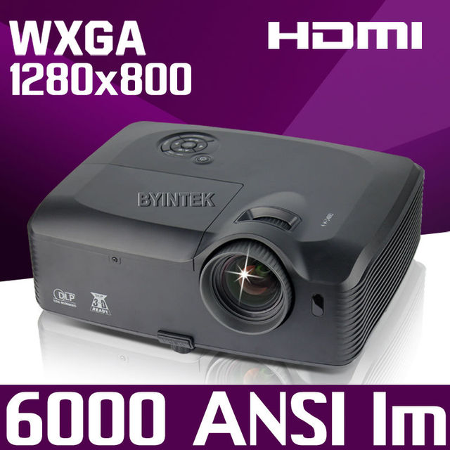 300inch 6000ANSI advertise Presentation 2K Rear Daylight Video USB HDMI 1280x800 1080p full HD DLP Projector Proyector beamer