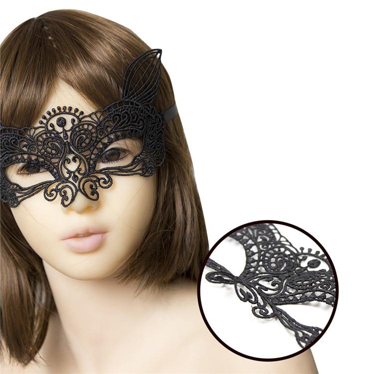 5pcs Adult Games Lady Lace Eye Mask with Cat Ear font b Sex b font Fetish