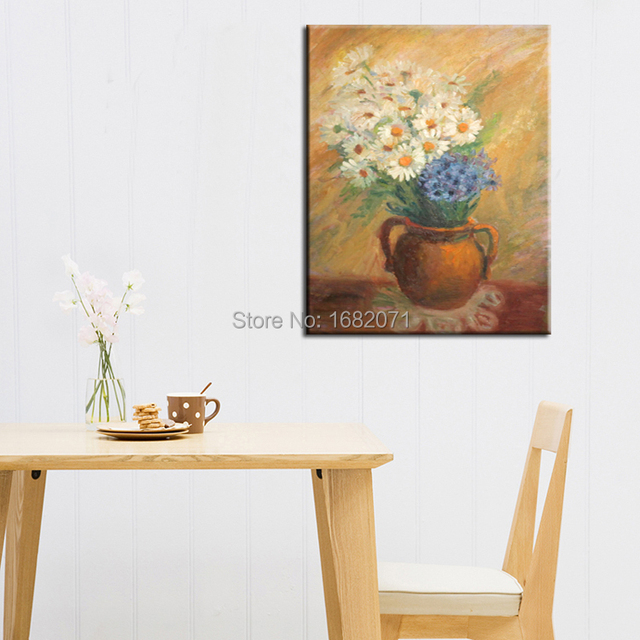 Exceptionnel Wholesale Price Supply High Quality Impression Daisy Flower Oil Painting On  Canvas Daisies Flowers Oil Picture
