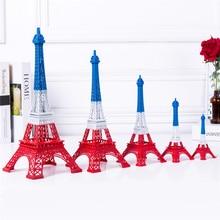 Cake Topper Broken Colour Eiffel Tower Decor  Zinc Alloy Home Decoration Improvement Gift Five Sizes