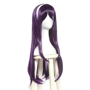 Image 2 - L email peruca para cosplay saenai heroine no sodateka utaha», peruca longa em roxo e cabelo sintético, para cosplay