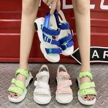 972c56219 ها الكبرى الرياضية الصنادل السيدات أحذية منصة امرأة حذاء كاجوال بو تنفس  الانزلاق على أحذية سميكة