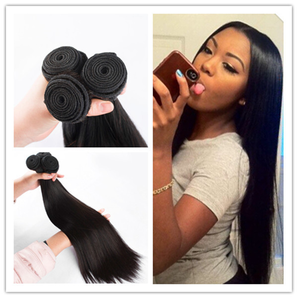 Unprocessed 6A virgin  Hair Products Peruvian Hair Straight Weave Human Hair Extension,3Pcs/lot 100g/ bundle Straight Hair Weft