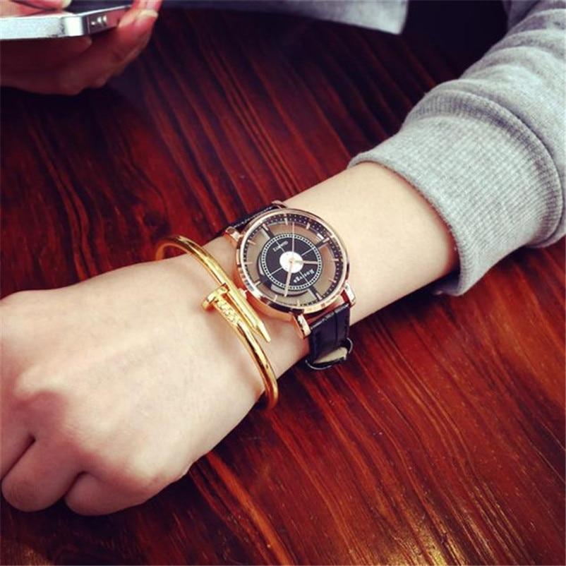 Uhr Neutral Persönlichkeit Einfache Mode Einzigartige Hohl Luxus Einzigartige Stilvolle Doppel Hohl Elegante Beiläufige Wristw