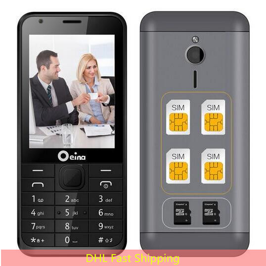 10 pcs lot OEINA 230 4SIM his and hers Elderly Phone With Quad Band Four SIM
