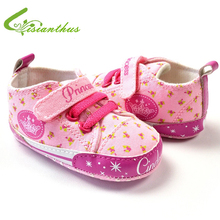 Baby Girl Princess Sneakers 2019 New Fashion Toddler Soft Sole Cartoon First Walkers Infant Spring Autumn Shoes Drop Free Ship