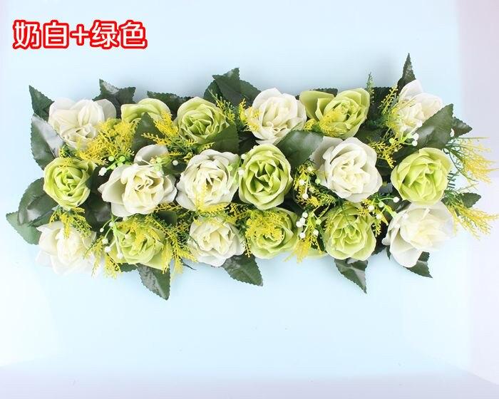 Свадебная композиция Свадебные Искусственные Свадебные шелковые розы арки цветочное свадебное украшение ряд цветов рамка с цветами 10 шт./партия - Цвет: FD12