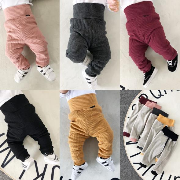 New Winter Baby Full Length Pants High Waist Cotton Toddler Harem Pants Newborn Casual Trousers Loose Infants Elastic Pants