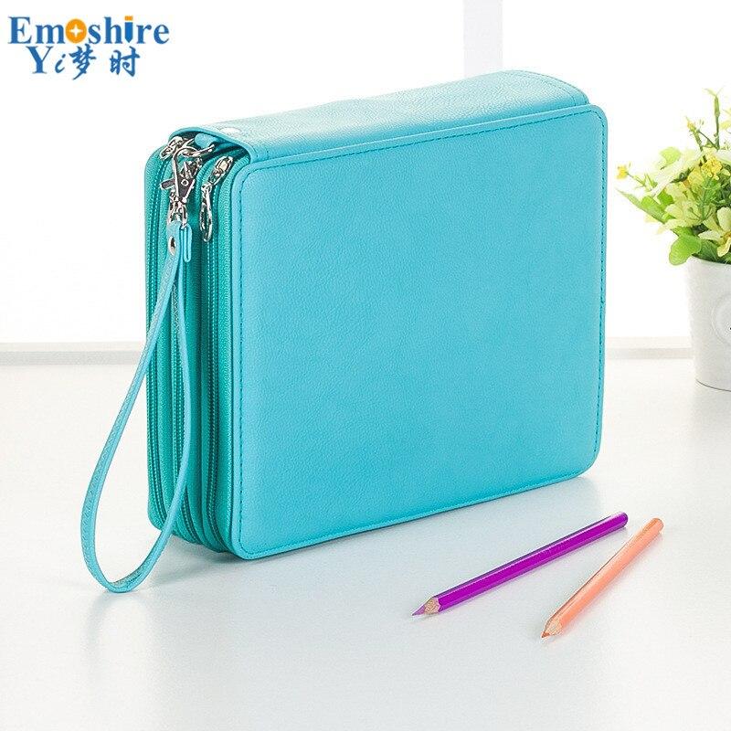 Tout porte-stylo Portable école couleur porte-crayon grande capacité stylo crayon sac pour étudiant Art fournitures grande papeterie B258